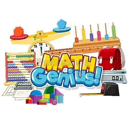 font design for word math genius