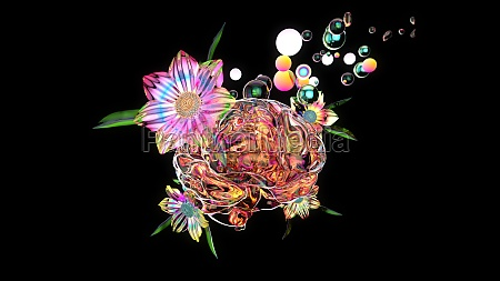 3d illustration of an abstract art