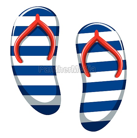 pair of blue striped sandals