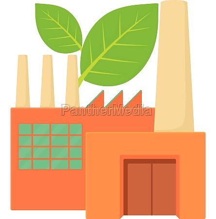 eco factory icon cartoon style