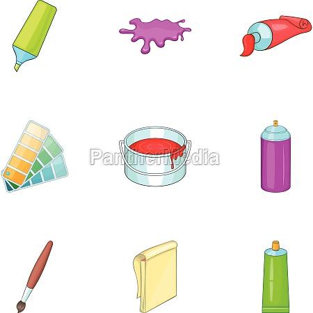 art and craft symbol icons set