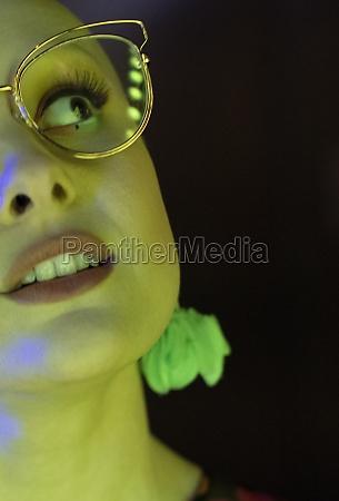 close up beautiful stylish woman in