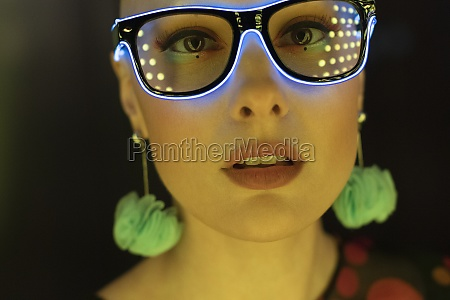 close up portrait beautiful stylish woman