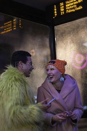 happy, stylish, couple, with, smart, phones - 30220640