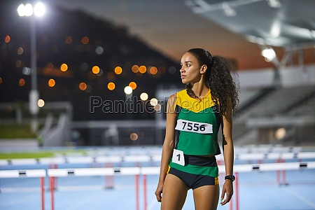 portrait determined track and field athlete