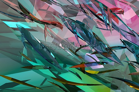 3d illustration abstract crystal background blank