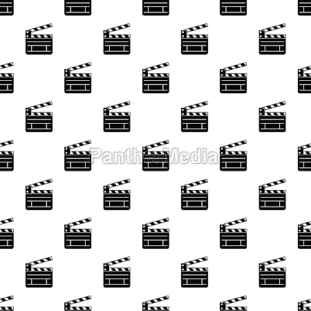 clapperboard pattern simple style