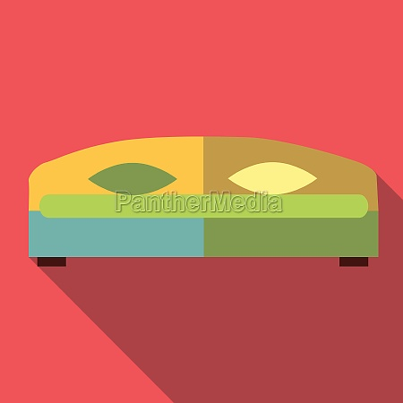double bed icon flat style