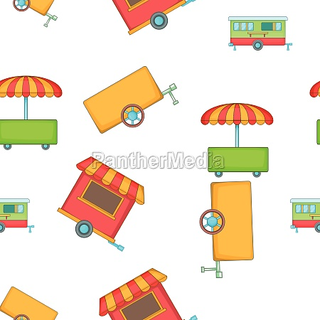 transport of food sales pattern cartoon