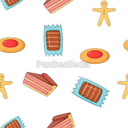 patisserie pattern cartoon style
