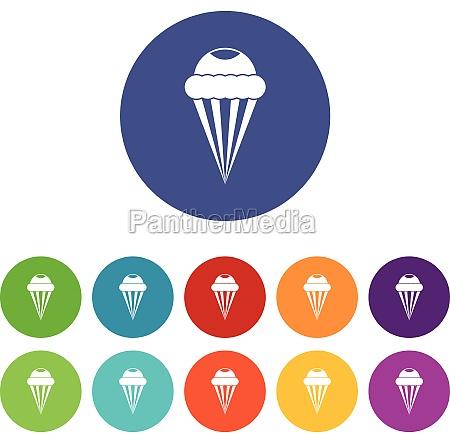 ice cream set icons