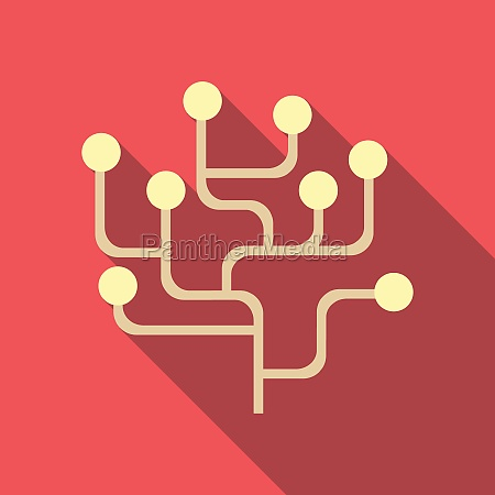 infographics structure icon flat style