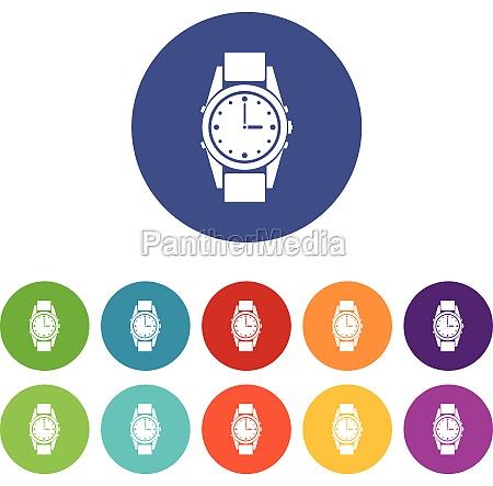 swiss watch set icons