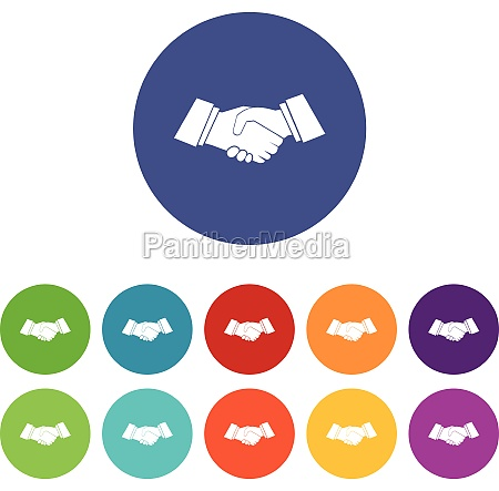 handshake set icons
