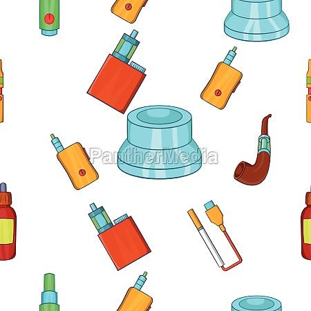 electronic cigarette pattern cartoon style