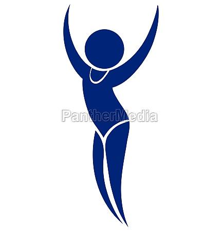 sport icon design for floor exercise