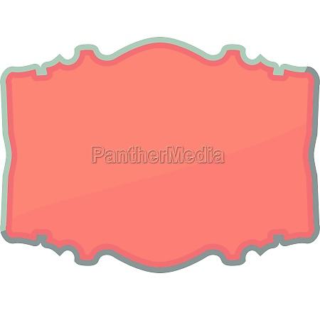 shaped label icon cartoon style