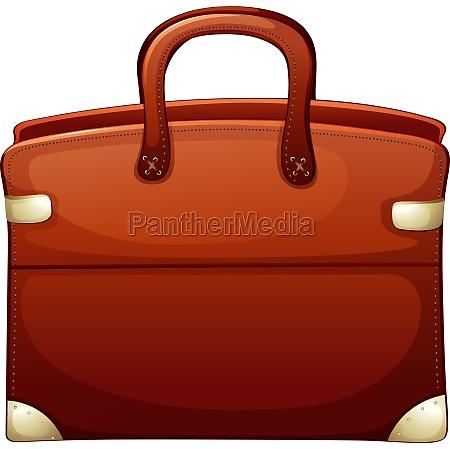 a brown handbag