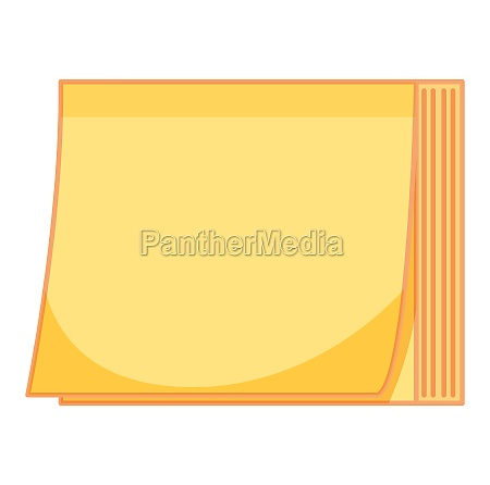 yellow paper note on white background