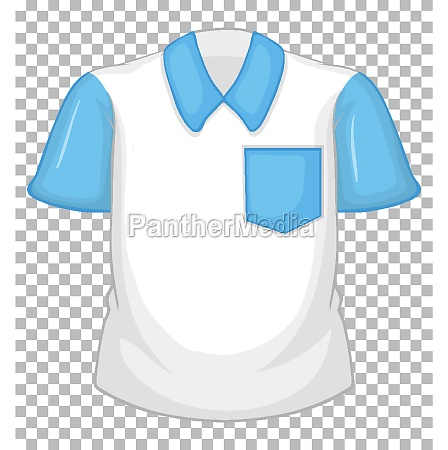 blank white shirt with blue short