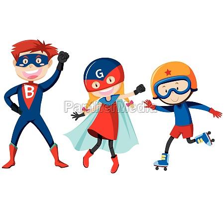 set of super hero