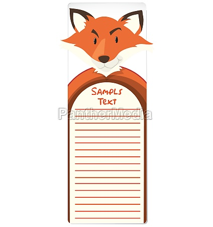 paper template with fox in background