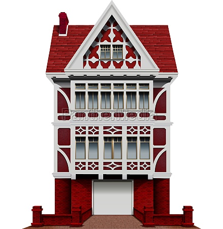 a big red house