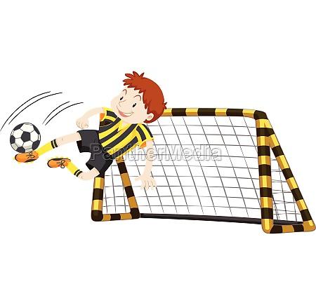 goalkeeper at the goal