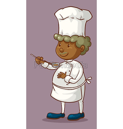 chef holding a spoon
