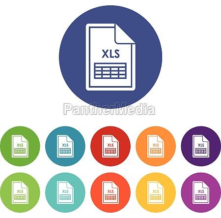 file xls set icons