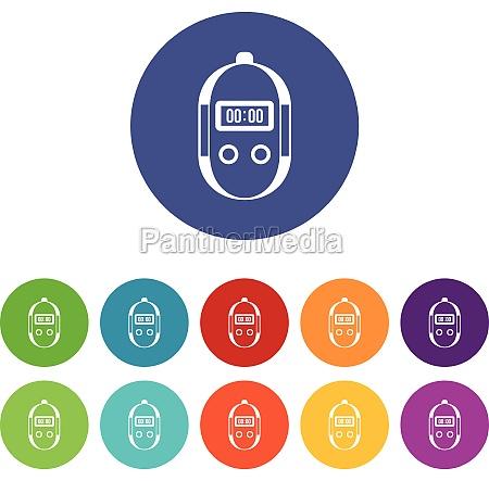 stopwatch set icons