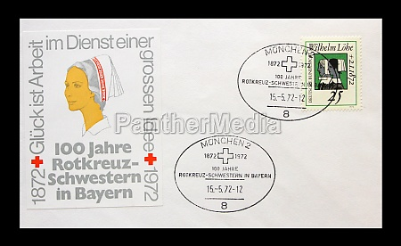 first day cover printed in germany