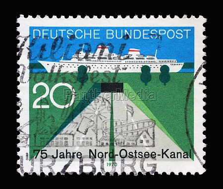stamp printed in germany honoring 75