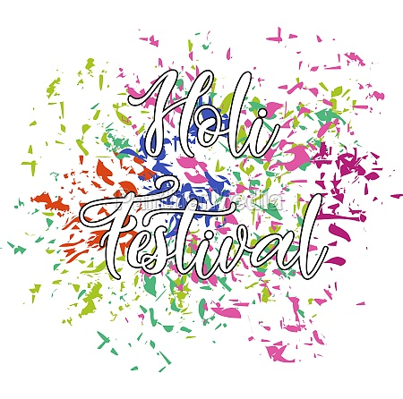 happy holi festival poster design with