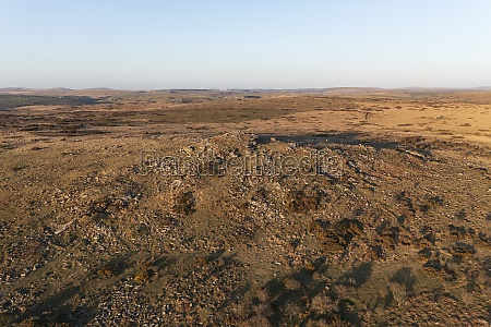aerial view of countryside landscape at