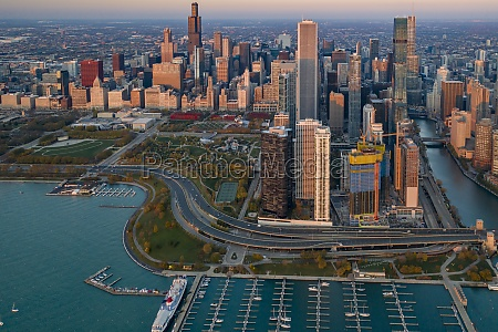 aerial view of dusable harbour near