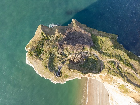 aerial view of falaises detretat a