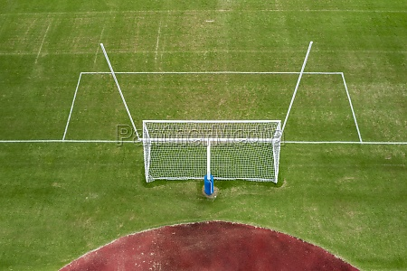 aerial view of football field at