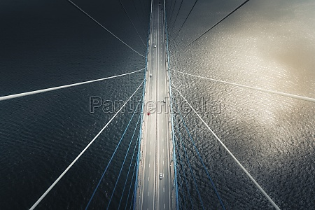 aerial, view, of, vehicles, crossing, the - 30242601