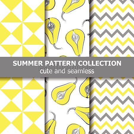 delicious summer pattern collection pears theme