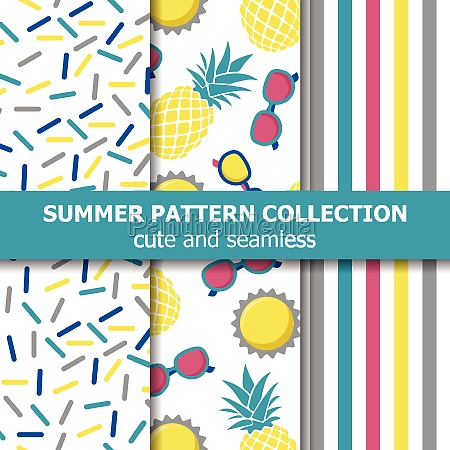 juicy summer pattern collection pineapple theme