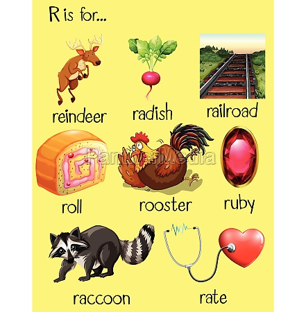 many words begin with letter r