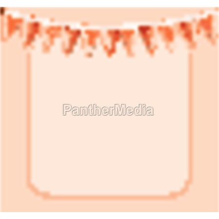 orange frame with flags and frame