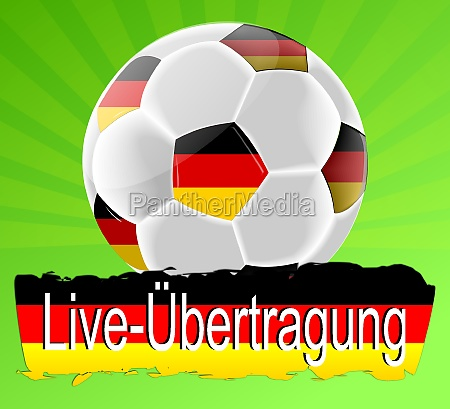 live broadcasting soccer ball on