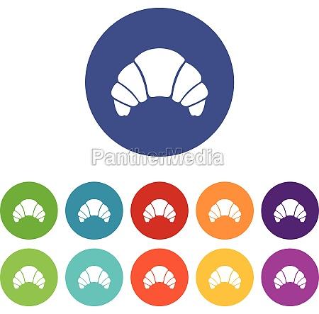 croissant set icons