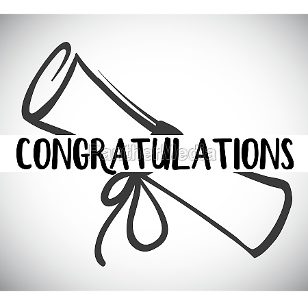 card template with congratulations word and