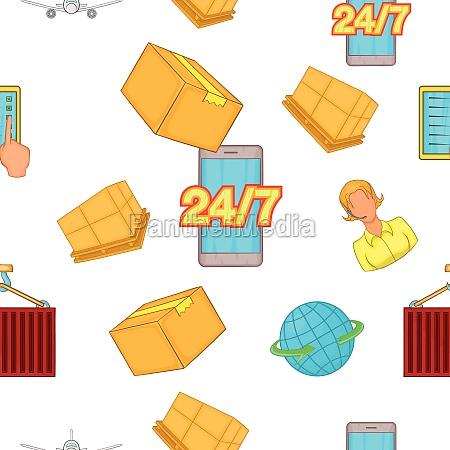 transportation pattern cartoon style
