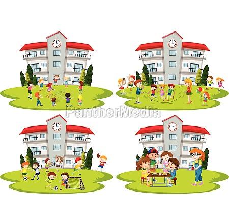 student activity at school