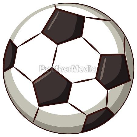 football ball on white background