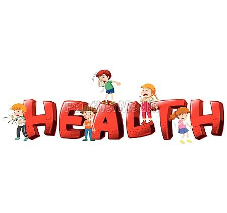 font design for word health